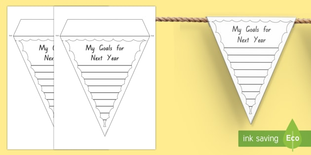 My Goals for Next Year Bunting