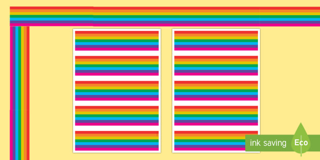 New Regenbogen Rahmen Zum Ausdrucken Regenbogen Bilderrahmen