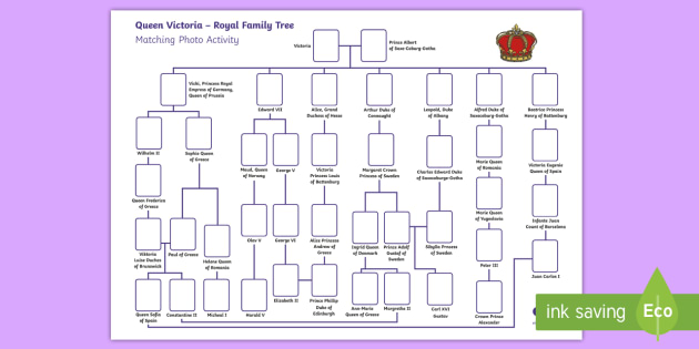 queen victoria royal family tree matching photo activity royal. Black Bedroom Furniture Sets. Home Design Ideas