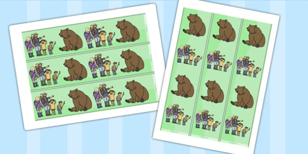 Bear Hunt Display Border - borders, displays, visual, posters