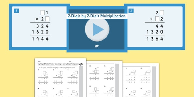 KS2 Reasoning Test Practice Missing Number Calculations 2-Digit