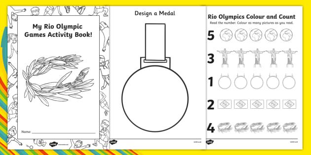 Eyfs rio olympic games nursery fs1 activity booklet ccuart Gallery