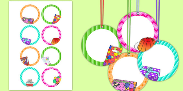 9th Birthday Party Name Tags - 9th birthday party, 9th birthday, birthday party, name tags
