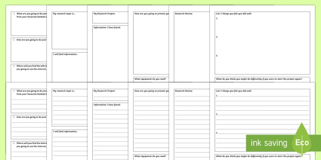 Research Project Worksheet / Worksheets - Key Stage 4 Entry ...