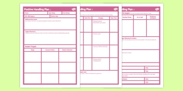 Positive Handling Plan Secondary - positive, handling, plan, secondary, positive handling