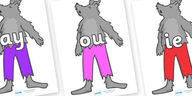 Phase 5 Phonemes on Werewolf - Phonemes, phoneme, Phase 5, Phase five, Foundation, Literacy, Letters and Sounds, DfES, display