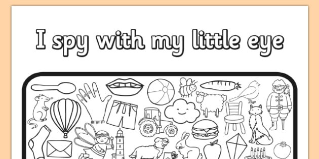 I Spy With My Little Eye Colouring Activity Sheet - colours, worksheet