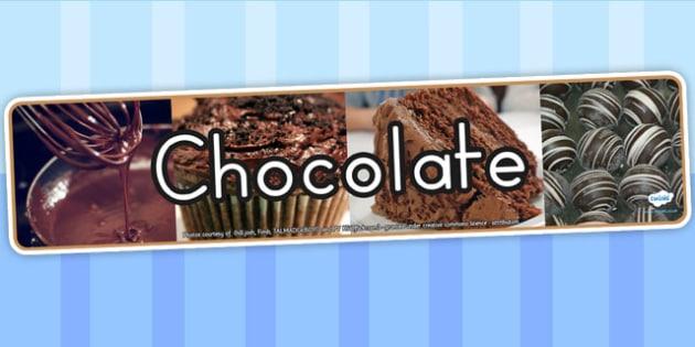 Chocolate Photo Display Banner - food, header, eating, health