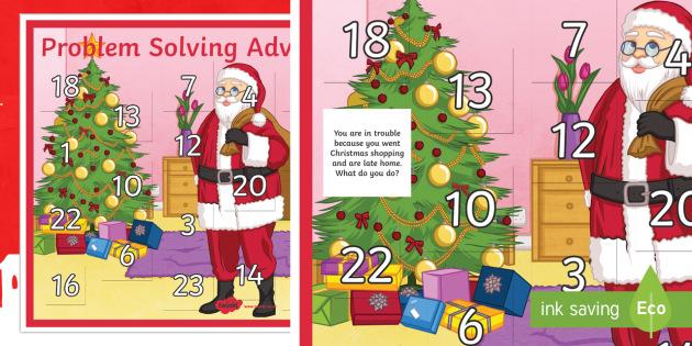 Advent Calendar Ideas Eyfs : Problem solving advent calendar