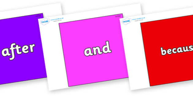 Connectives on Squares - Connectives, VCOP, connective resources, connectives display words, connective displays