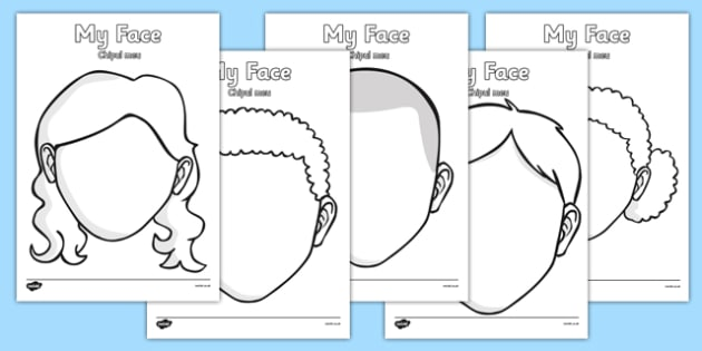 It's just a picture of Blank Face Printable for summer
