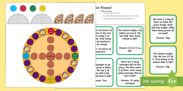 Perfect Pizzas Board Game