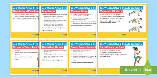 Joe Wicks: Active 8-Minute Workout 2 Cards