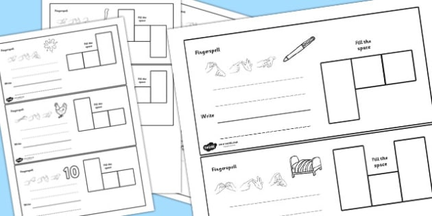 CVC Spelling Cards with British Sign Language e - CVC, BSL, Spell