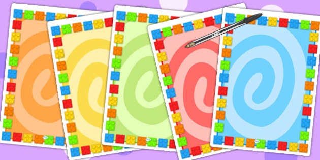 Building brick Themed Editable Poster - toys, games