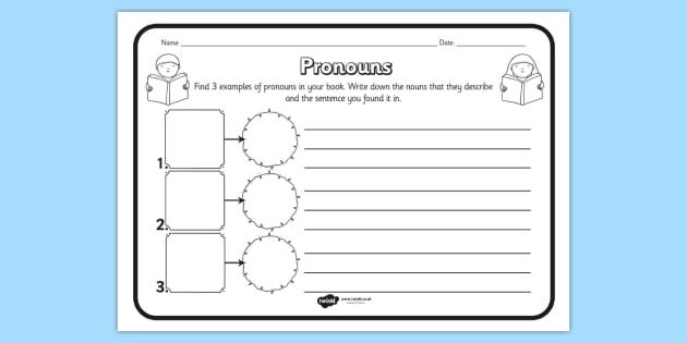 Pronouns Comprehension Worksheet - pronouns, comprehension