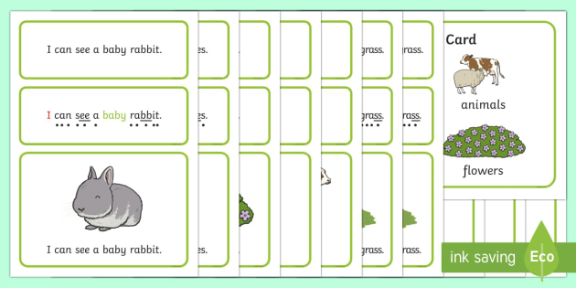 Spring Simple Sentence Cards - reading, sentences, eyfs, word cards, decoding, tricky words, sound button, phoneme, grapheme, phoni