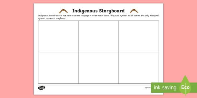 Indigenous Storyboard Template Indigenous History Aboriginal