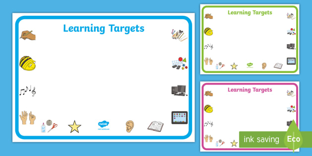 Editable 'Learning Targets' Display Signs - Learning  intention,  criteria, learning objective, Editable sign, display, poster