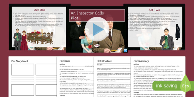 An Inspector Calls Plot Lesson Pack