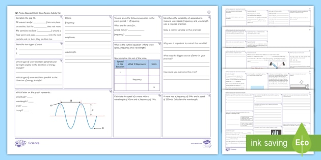 AQA GCSE Physics (Separate Science) Unit 6: Waves Revision