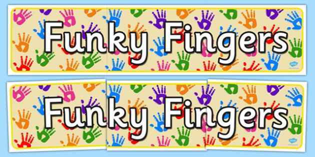 funky fingers display banner