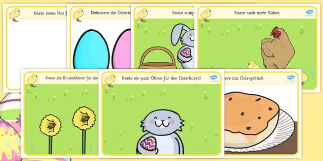 Easter Playdough Mats German - german, mat, activity, playdough, play-doh, play doh, playdoh, easter, easter activity, easter playdoh mat, activity mat, activity, fun, playdough activity mat, themed mat