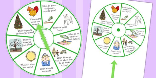 When Season Spinner - when, season, activity, spinner, spin