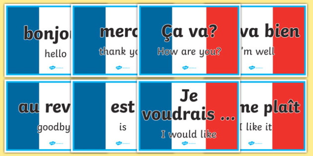 French Word Posters - MFL, French, Modern Foreign Languages, basic phrases in French, foundation, languages, display, francais