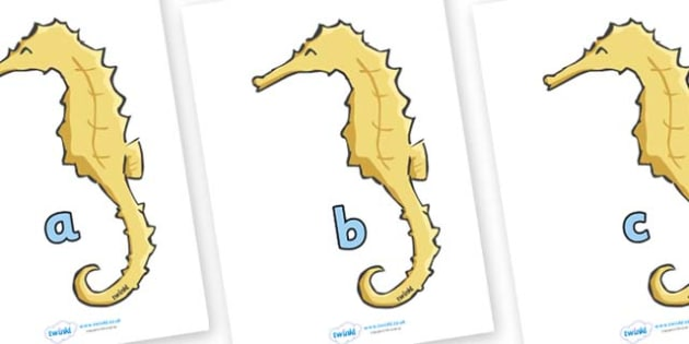 Phase 2 Phonemes on Seahorses - Phonemes, phoneme, Phase 2, Phase two, Foundation, Literacy, Letters and Sounds, DfES, display