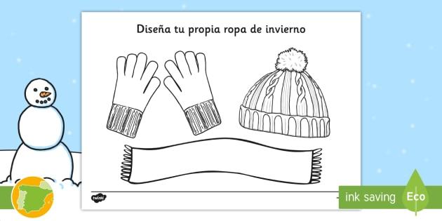 Diseña tu propia ropa de invierno - ropa, abrigar, creación, diseño, bufanda, guantes