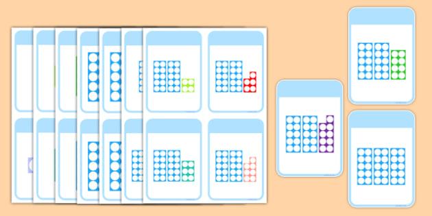 Number Shape Matching Cards 0-30 - number shape, number, shape, matching, cards, match