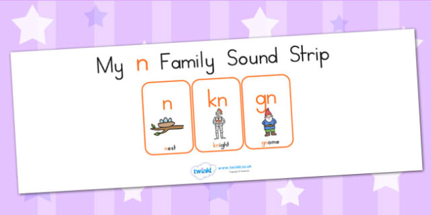 My N Family Sound Strip - sound family, visual aid, literacy
