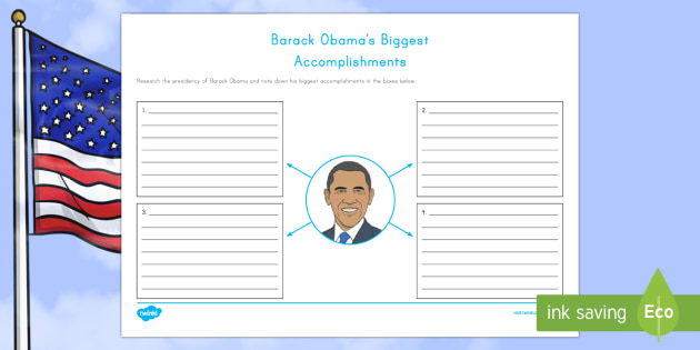 Barack Obama's Biggest Accomplishments Writing Worksheet / Activity Sheet - American Presidents, American History, Social Studies, Barack Obama, Lyndon B. Johnson, Franklin D.