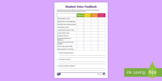 teacher survey for students