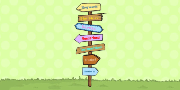 Story Sign Post Display Pack - story, sign post, display, pack