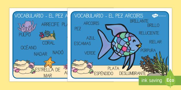 El pez arcoiris Tapiz de vocabulario