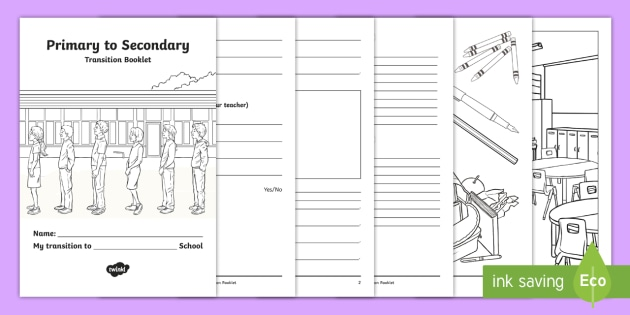 My Transition To Secondary School ASN Worksheet