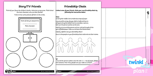 RE: Friendship Year 1 Home Learning Tasks