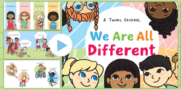 We Are All Different Story PowerPoint - Difference, Inclusion