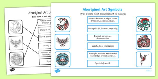 Aboriginal Art Symbols Worksheet Activity Sheet Worksheet