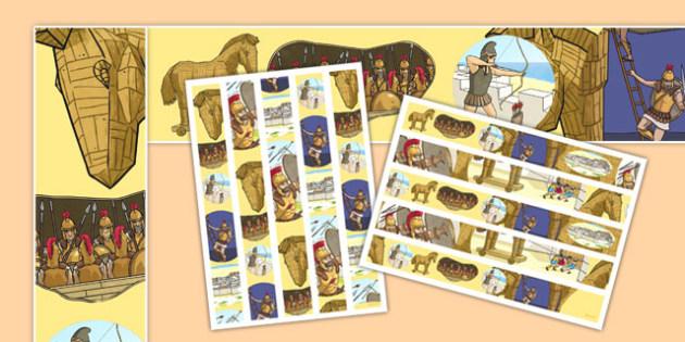 The Trojan Horse Display Borders - the trojan horse, troy, ancient greece, display borders