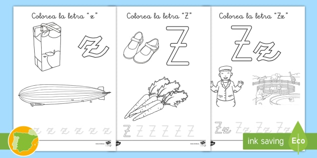 Hoja De Colorear La Letra Z Teacher Made