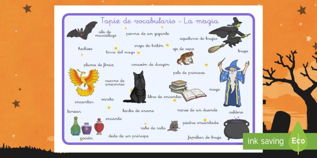Tapiz de vocabulario Magia