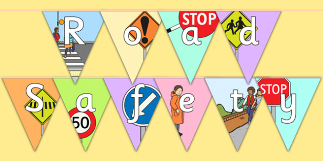 New Zealand Road Safety Display Bunting