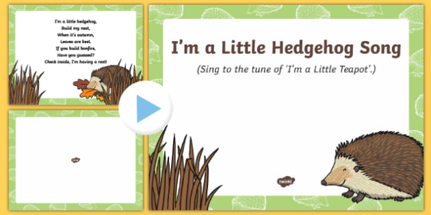 I'm a Little Hedgehog Song PowerPoint