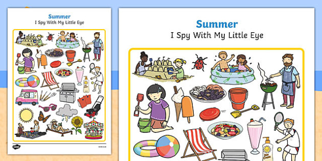 Summer Themed I Spy With My Little Eye Activity - games, game