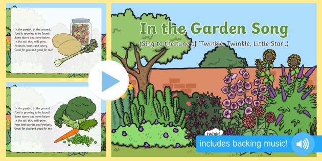 In the Garden Song PowerPoint