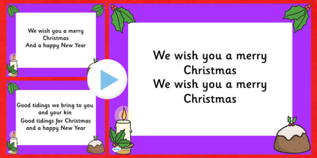 We Wish You A Merry Christmas Song.We Wish You A Merry Christmas Christmas Carol Lyrics