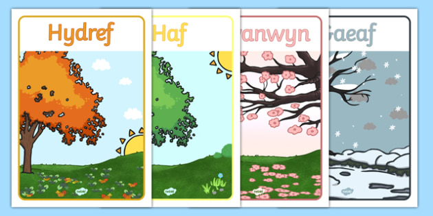 Welsh Season Posters - spring, summer, autumn, winter, poster